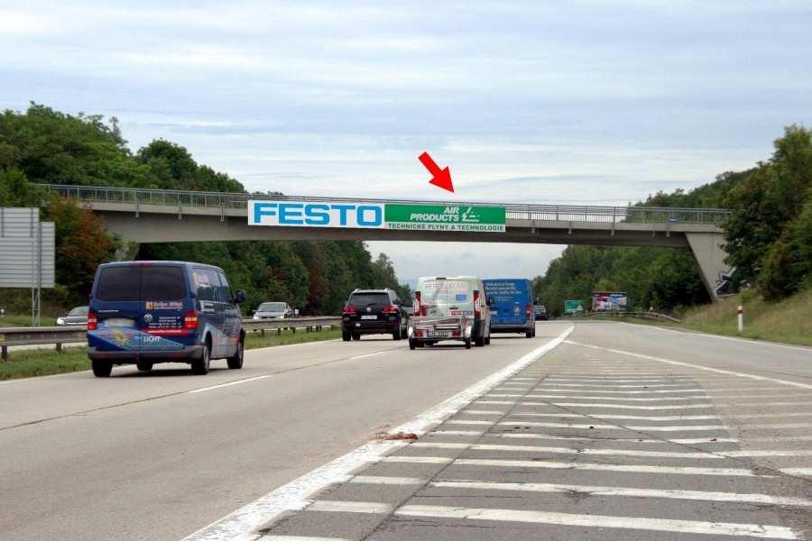 Reklamní plocha č. 1415136 - Reklama na mostech, D1 - 182.800, Praha-Vyškov Omice