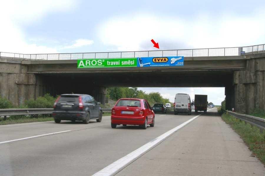 Reklamní plocha č. 1415148 - Reklama na mostech, D1 - 207.250, Praha-Vyškov Tvarožná
