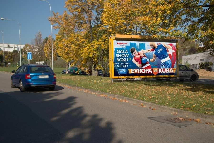 Reklamní plocha č. 3200686 - Billboard, Brno - Slatina, Slavkovská sm.Hviezdoslavova,zc