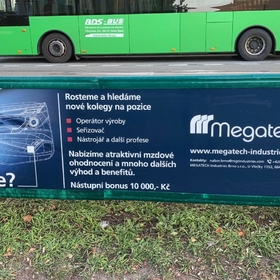 Reko - Reklama na zábradlí - Outdoorová reklama Brno